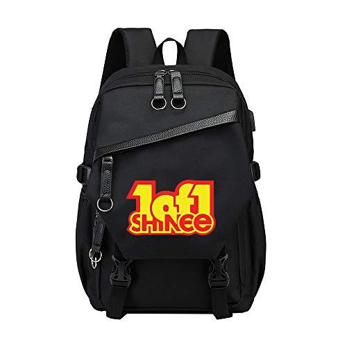 Shinee Rucksack für Kinder und Jugendliche Casual wilde Rucksack Leinwand der klassischen Kinder-Rucksack Personality Trend Kinder Schoolbag Mode Einfach Rucksack Schüler Wasserdicht Leichte große Kap