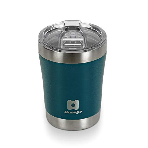 HUMIGO Tumbler 10oz Travel Mug Stainless Steel Tumbler for Wine/Sparkling Water Coffee Travel Mug for Office/Camping/Outdoor BPA Free Coffee Tumbler 1098300BL