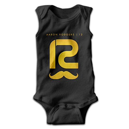 Baby Aaron Rodgers Classic Sleeveless Bodysuit 6M Black