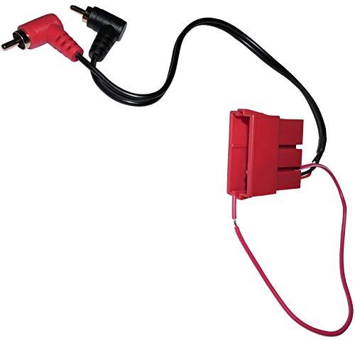 AERZETIX: Connecteur fiche Rouge Adaptateur Mini ISO vers 2X RCA mâle pour autoradio pour Auto Voiture