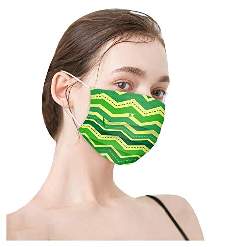 Mllkcao 30PC Unisex Adults St. Patrick' Day Print Soft 3 Ply Earloop 3-Layer Disposable_Face_𝓶𝓪𝓼𝓴 Gifts for Women
