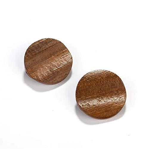 MXHJD Pendiente de madera natural Wodden, pendientes grandes redondos hechos a mano, joyería antigua Vintage para mujer, joyería de moda, regalo