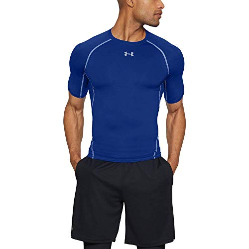 Under Armour Ua Hg Armour Ss, Maglietta Uomo, Blu (Royal/Steel 400), M