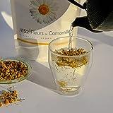 N.52 Flores de manzanilla: té, té de hierbas, infusión caliente, café con leche, postre, bebida fría, limonada o tónico.