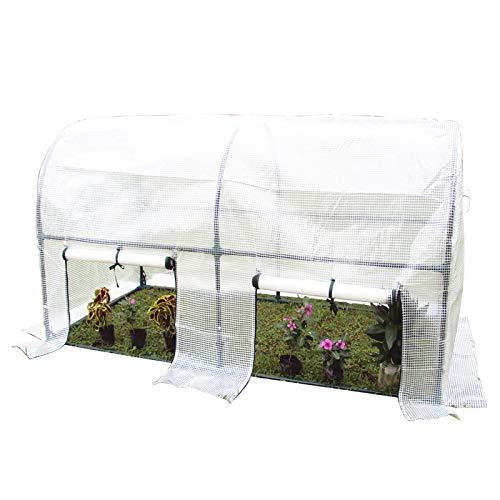 ERRU Invernadero Gran Paseo en Túnel de Invernadero Casa Caliente para Jardinería de Plantas Al Aire Libre, Refugio de Cultivo de Tomates con Cubierta de PE/Puerta (Size : 200×100×100cm)