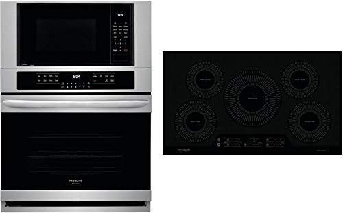 Frigidaire 2 Piece Kitchen Appliances Package with FGMC3066UF 30' Electric Double Wall Oven/Microwave Combo and FGIC3666TB 36' Electric Induction Cooktop in Stainless Steel