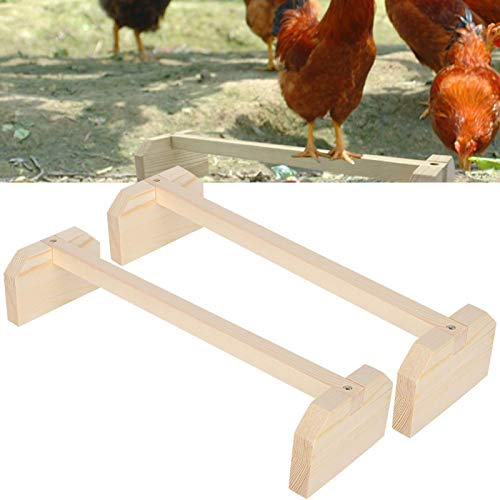Soporte de juguete para gallinas, soporte de madera para pollitos, soporte para gallinas, 2 piezas de percha para pollos, soporte de madera grande para pájaros, soporte para gallinas de entrenamiento