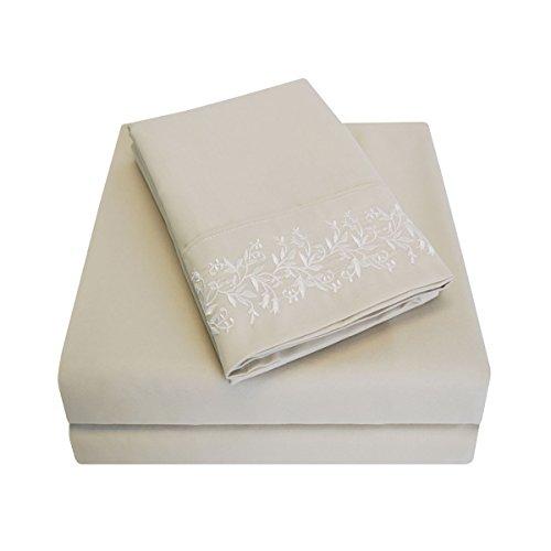 Impressions knitterfrei 3000Serie Floral Spitze Bestickt, Tabelle Set, hautfarben, Volle Größe