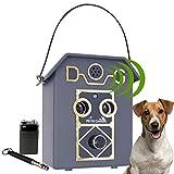 My Pet Command 50Ft Long Range Anti Barking Device, Auto Ultrasonic Dog Bark Deterrent, Dual Speaker Waterproof for Outdoor use Adjustable Ultrasonic Level Control, Bonus Training Whistle