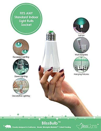 BlissLights BlissBulb Laser Bulb - Decorative Accent Light for Parties, Holidays, Night Lights, Patios (Indoor/Outdoor…