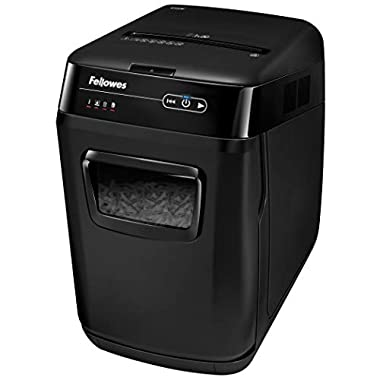 Fellowes AutoMax 150C 150-Sheet Cross-Cut Auto Feed Shredder with Jam Protection for Hands-Free Shredding (4680001…