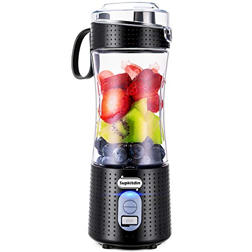 Supkitdin Portable Blender, Personal Mixer Fruit Rechargeable with USB, Mini <a href=