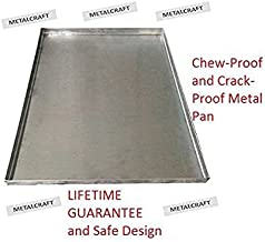Pinnacle Systems Replacement Tray for Dog Crate – Chew-Proof and Crack-Proof Metal Pan for Dog Crates