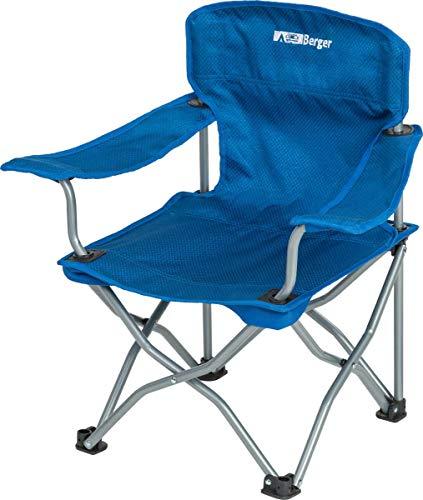 BERGER Kinderfaltstuhl Happy Campingstuhl Klappstuhl Strandstuhl bis 50kg Stuhl Faltstuhl Faltsessel