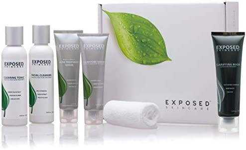 Acne Treatment Kit by Exposed Skin Care with Clarifying Mask 60 Day Supply Amazon Exclusive product image