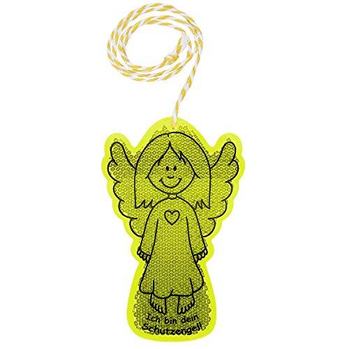 Schutzengel-Reflektor für Mädchen mit hervorragenden reflektierenden Eigenschaften - erhöht die Sicherheit im Straßenverkehr, zur Befestigung an Schulranzen, Rucksack, Fahrrad oder Kinderwagen