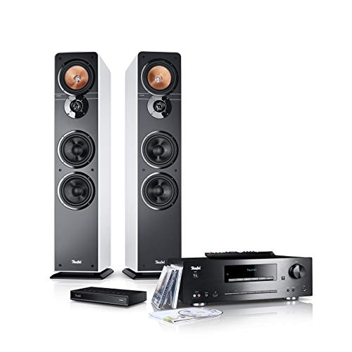 Teufel Ultima 40 Kombo Streaming Weiß Stereo Lautsprecher Musik Sound Hochtöner Mitteltöner Bass Speaker High-End HiFi Soundanlage