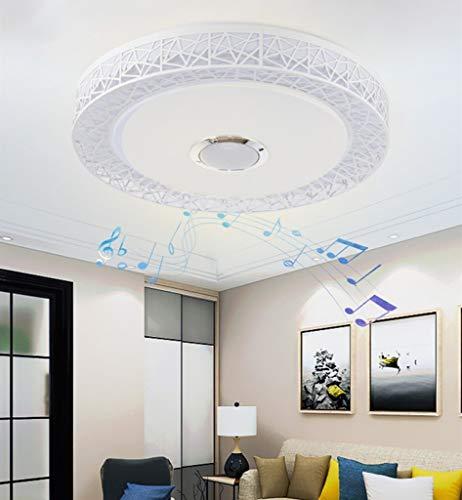 YUPIN Led-plafondlamp, dimbaar, RGB-kleurveranderende lampen met bluetooth-luidspreker, mobiele telefoon, app, besturing voor woonkamer, eetkamer, slaapkamer, verlichtingslamp