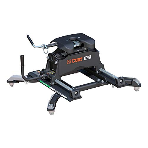 CURT 16687 Q20 5th Wheel Slider Hitch, 20,000 lbs, Select Ram 2500, 3500, 6.5-Foot Bed Puck System