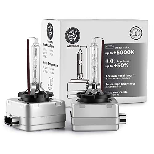 Whitiger D3S Xenon-Brenner, Hid Xenon Scheinwerferlampe 12V 35W, 4300K (2 Lampen)