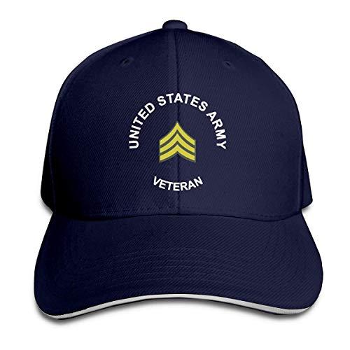 ZhangLinFu Cappello dell'Esercito Americano Sergente veterano Regolabile Cappello da Baseball Berretto da Baseball Cappello papà Cappello Baseball cap Sandwish Hat