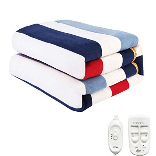 Jiyou Quality assurance Electric Heated Blanket Double Heater Bed Thermostat Soft Electric Mattress Heating Blankets Warmer Heater Carpet Comfortable and soft (Size : 120x150cm)