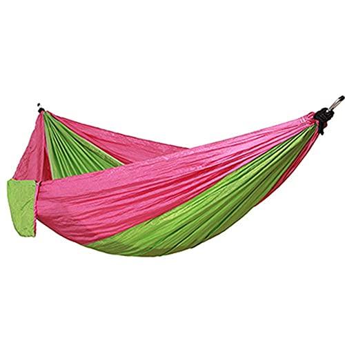 ZJSXIA Camping Hammock Double Camp Portátil Tela de Nylon Liviana para la suspensión de Viaje al Aire Libre Handy Hammock-B Hamaca Colgante (Color : D)