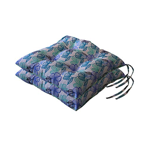 Outdoor/Indoor Reversible Chair Pads Seat Cushions, 18.9' x 18.5', 2 Pack