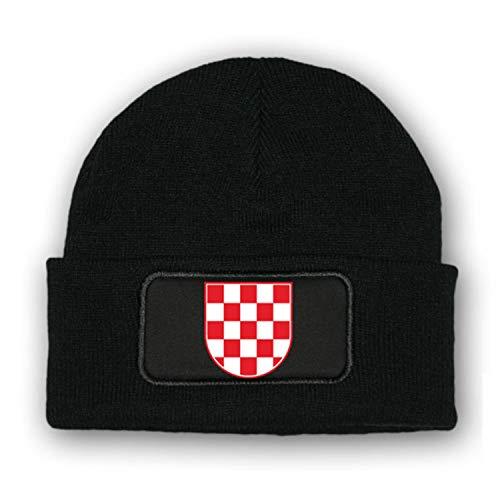 Copytec * Mütze/Beenie -Mütze Kroatien_ Wappen Fahne Kroatien Balkan Korkade #7025