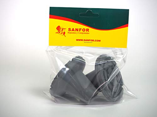 Sanfor 70091 Paquete 10 Bl/íster 2 Contera andador gris C//arandela de 25mm