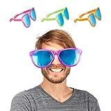 Joeyer 12 Pack Divertenti Occhiali a Righe Moda 80 Slotted Occhiali di Ombreggiatura per Feste Regalini Compleanno