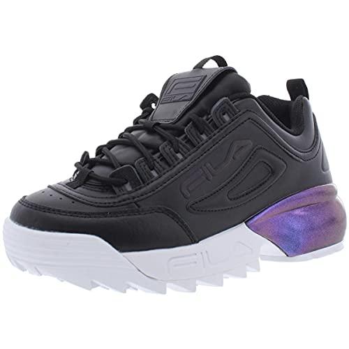 Fila Women's Disruptor II Sneaker, Black (Blk/Phsh/Wht, Numeric_10)