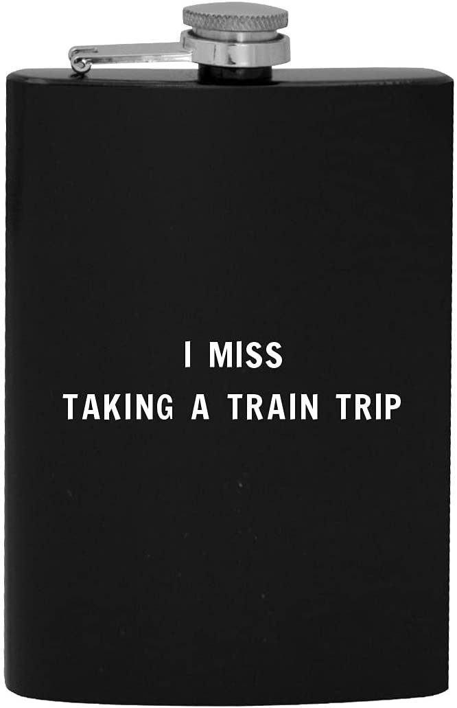 supreme I Miss Taking A Train Trip Flask 8oz Drinking 2021 autumn and winter new Alcohol Hip -