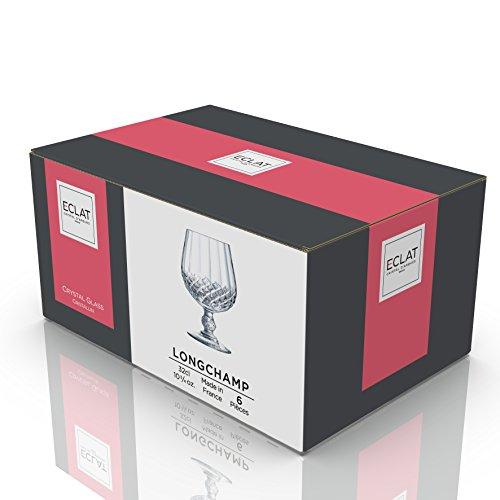 CRISTAL D'ARQUES L9755 Coffret de 6 Verres à Cognac 32 cl - LONGCHAMP, Cristallin, Claire