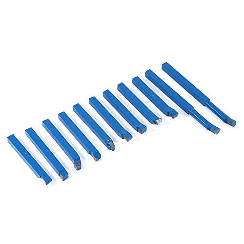 draaibank Tool - 11 stks Carbide gekanteld draaibank gereedschappen, Turning Tool Set Gebruikt om Weld Frezen Snijden 8 * 8mm, Gebruik op algemene Lathes, Semi-Automatische en Automatische Lathes, Etc.