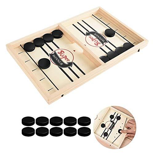 YYL Schnelles Sling Puck Spiel Foosball Winner Brettspiel, Hölzernes Hockey-Tischspiel Tisch-Desktop-Kampfspiel für Die Entwicklung Von Fähigkeiten für Eltern-Kind