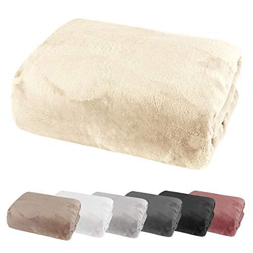 heimtexland ® Spannbetttuch Cashmere Touch Teddy Plüsch Spannbettlaken Super Soft ÖKOTEX Nicky 180x200 Creme Typ585