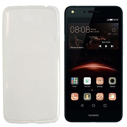 MOELECTRONIX TPU TRANSPARENT Silikon Schutzhülle Soft Hülle Tasche Hülle passend für Huawei Y6 II Compact LYO-L21