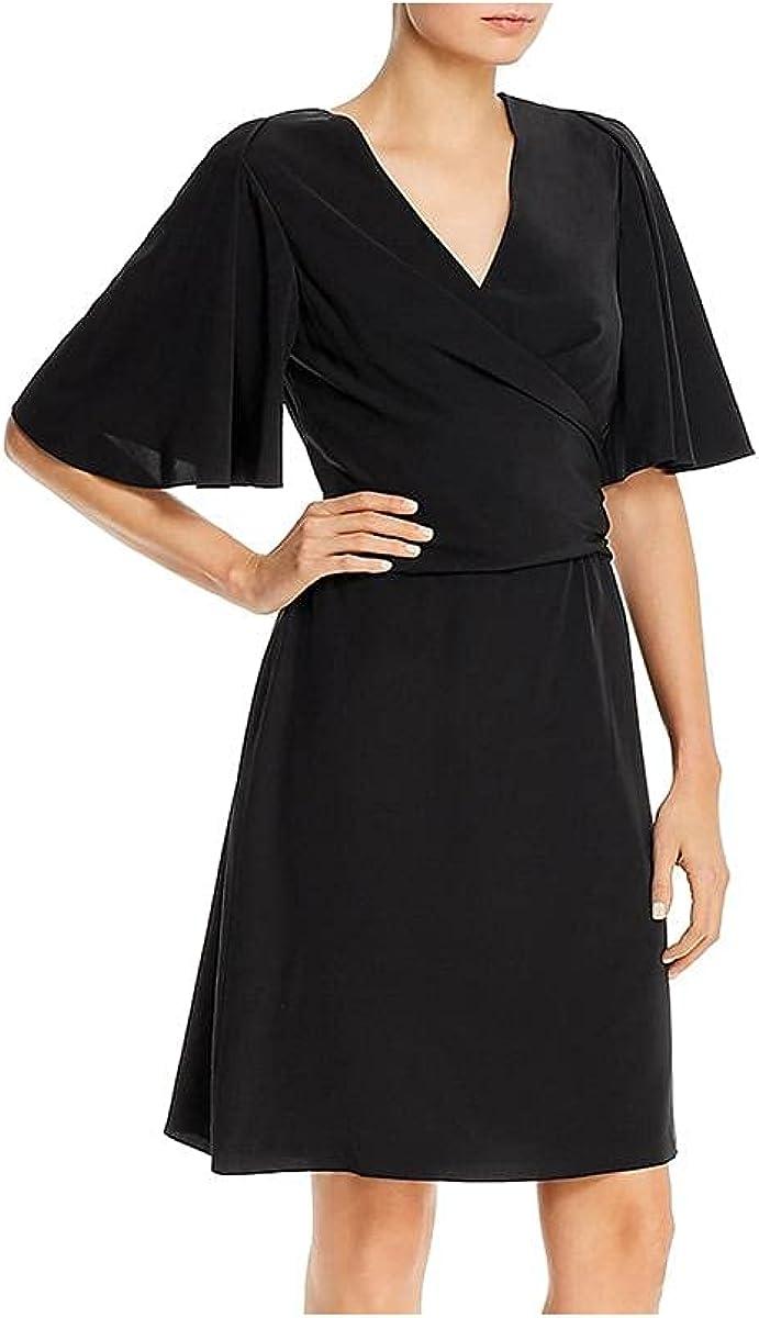 Kobi Halperin Womens Maggie Silk Tie Front Cocktail Dress