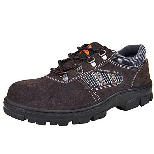 Schuhe Für Herren Arbeitsschuhe Sicherheitsschuhe Mit Stahlkappe Sportlich Atmungsaktiv Schutzschuhe Leicht Arbeitsschuh Bequemer Braun 39 EU