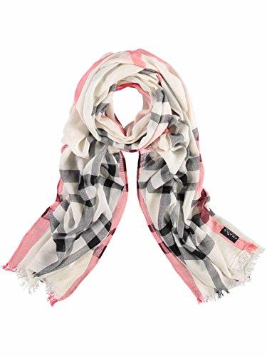 FRAAS XXL-Schal mit Karo-Muster für Damen - aus 100% Viskose - elegantes Mode-Accessoire passend zu jedem Fashion-Stil Creme