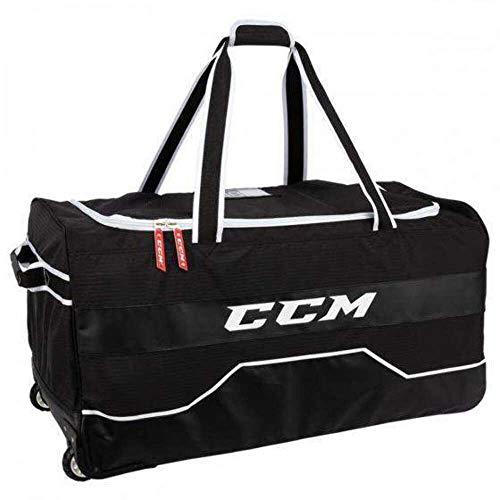 """CCM Hockey 370 Wheeled Bag, Black (37"""" L x 19"""" H x 16.5"""" W)"""