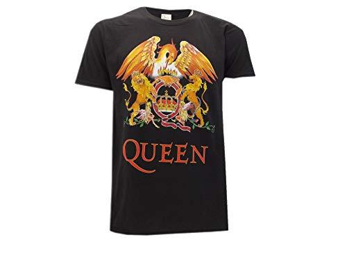 Queen T-Shirt Logo Band Classico Maglia Maglietta Rock – Ufficiale Originale (Medium)