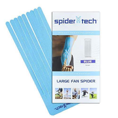 SpiderTech - Banda kinésica precortada para drenaje linfático (tamaño grande)