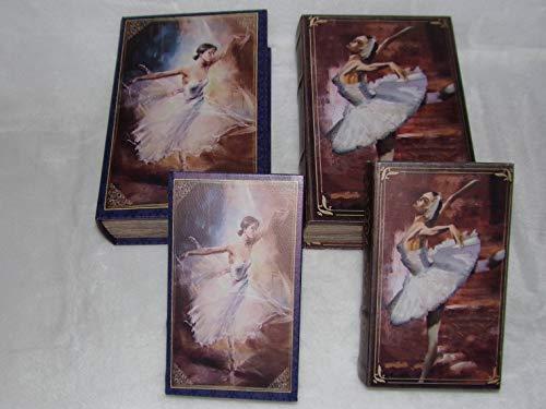 Signes Grimalt - Juego de 2 Cajas Falsas de Madera Decorativas de Bailarina Modelo Aleatorio