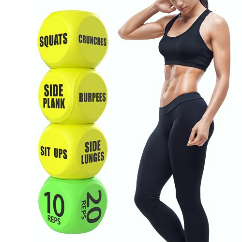 Skywin Workout Dice - Fun Exercise Dice for Solo or Group Classes, 6-Sided Foam Fitness Dice Great Crossfit Exercise Equipment