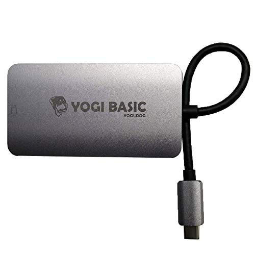 Yogi Basic USB-C to Dual Link DVI Active Video Adapter 2560 x 1600 for MacBook Pro, Chromebook, Dell XPS, USB C Type-C