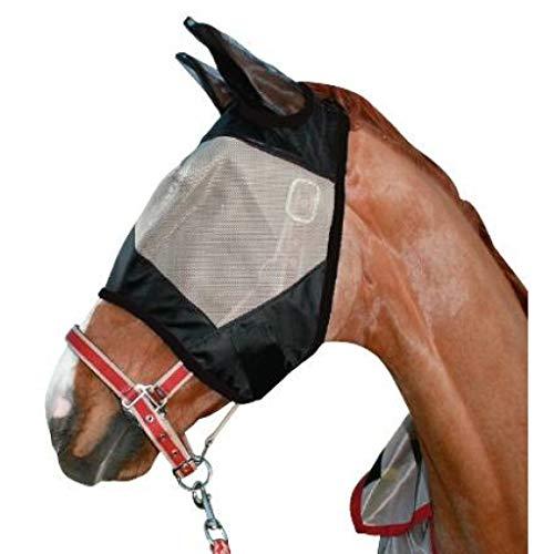 HKM Fliegenschutzmaske -Protection-, Taupe/schwarz, Warmblut