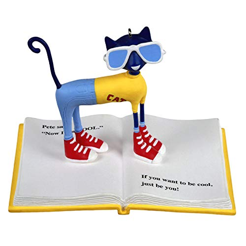 Hallmark Keepsake Christmas Ornament 2020, Pete the Cat Book