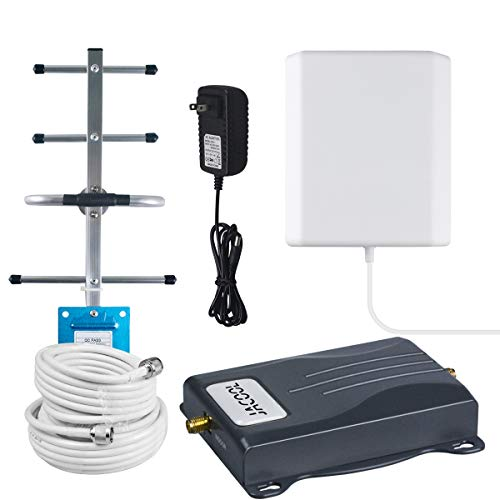 Cell Phone Signal Booster 4G LTE T-Mobile AT&T Signal Booster FDD ATT Cell Signal Amplifier Repeater Booster 700MHz Band 12/17 65dB Antenna Kits for Remote/Rural Area